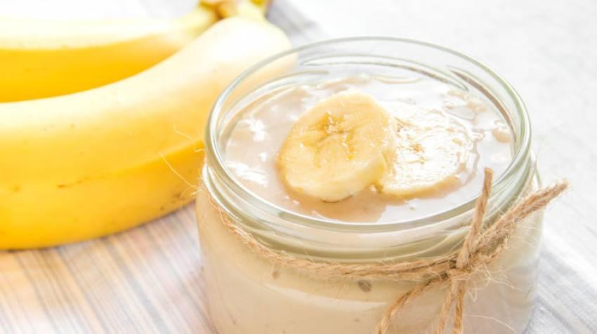 Mousse de plátano y yogur