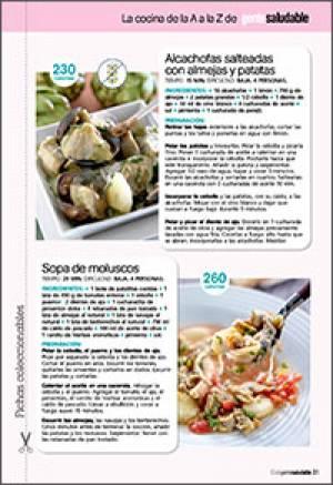 Alcachofas con almejas y patatas