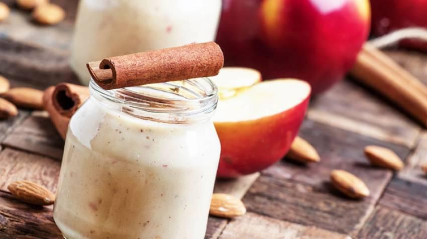 Frutas con leche de almendras