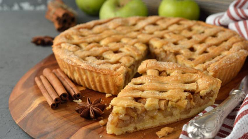 Torta hojaldrada de manzana